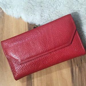 💎 New Red Leather Mundi Pocketbook Wallet